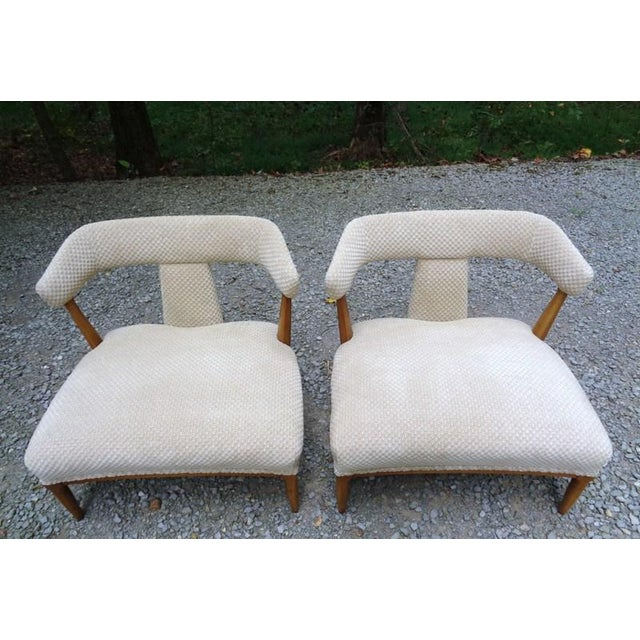 Mid 20th Century Mid Century Tomlinson Sophisticate Slipper Chairs ~ a Pair For Sale - Image 5 of 13