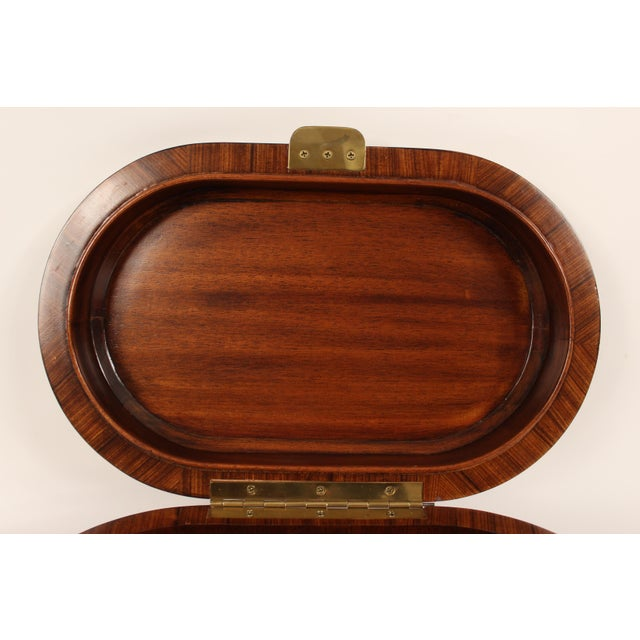 Brown Maitland Smith Burl Walnut Box For Sale - Image 8 of 10
