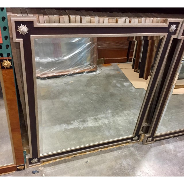 Neoclassical Hammered Tin Framed Mirror - Image 3 of 4