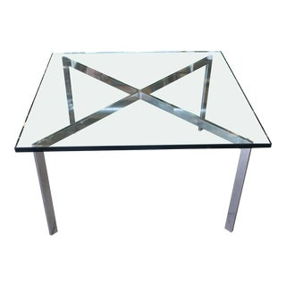 1980s Barcelona Coffee Table by Ludwig Mies Van Der Rohe for Knoll For Sale