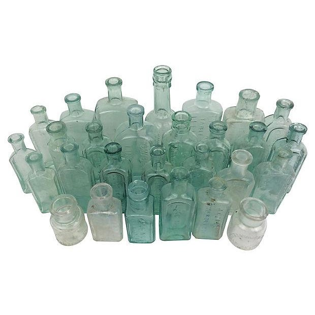 Antique English Apothecary Bottles - Set of 28 - Image 2 of 2
