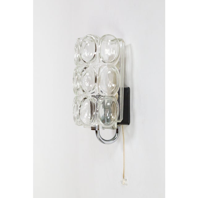 A petite, modish mid century Limburg wall light with charming, pull chain detail. Helena Tynell inspired, with inverted,...