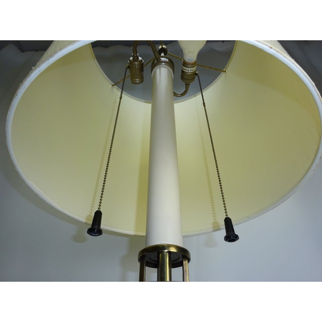 Faux Bamboo Enamel Table Lamp c1960 - Image 8 of 9