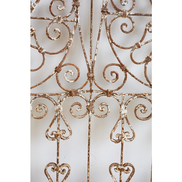 White 19th Century French Demilune Iron Transom Grille For Sale - Image 8 of 12