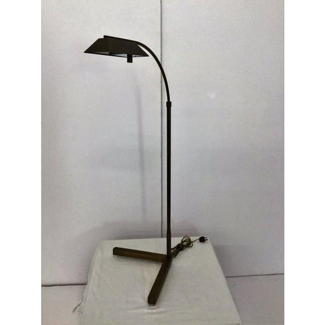 Modern Satin Bronze Pharmacy Lamp by Casella - Image 5 of 5