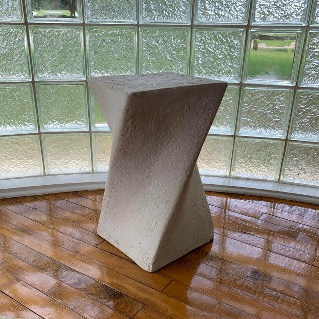 1970s 1970s Sculptural Plaster Pedestal For Sale - Image 5 of 5