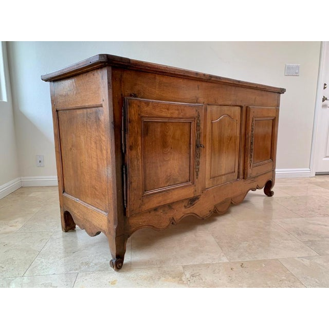 Late 18th Century Antique Rustic French Walnut Buffet For Sale - Image 5 of 13
