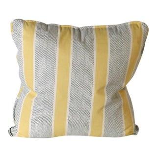 Pair of Duralee Eze in Lemon Printed Stripe Pillows