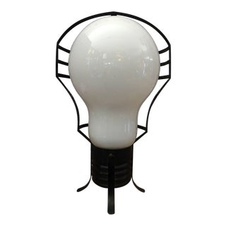 Ingo Maurer Style Mid Century Pop Op Art Lamp Lightbulb For Sale