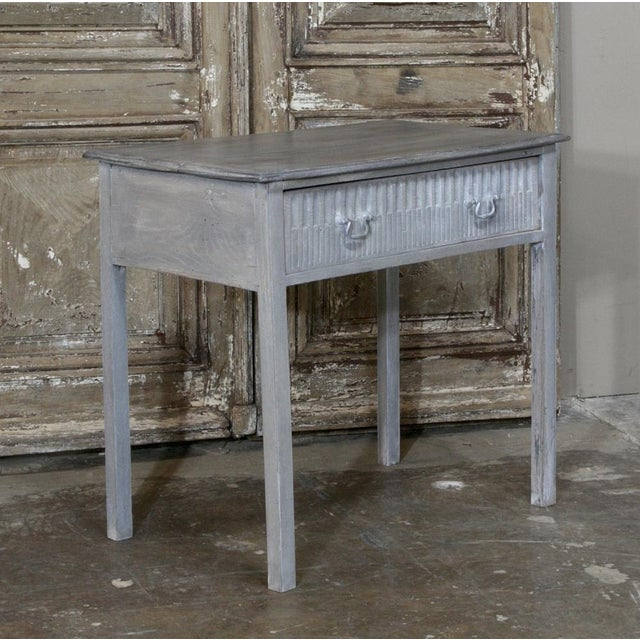 Metal 19th Century Swedish Painted End Table For Sale - Image 7 of 10