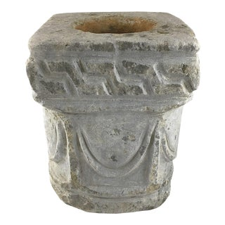Hand Carved Antique Marble Mortar/Pot For Sale