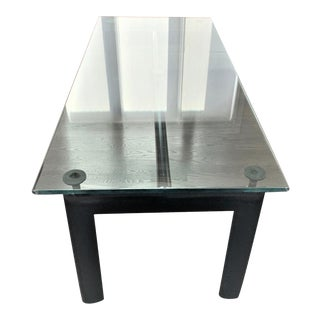Mid 20th Century Le Corbusier L6 Table Lacquered Metal and Crystal For Sale