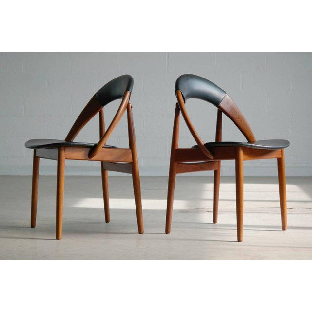 Very Rare Set of Six Dining Chairs by Arne Hovmand Olsen For Sale In New York - Image 6 of 10