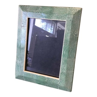 R & Y Augousti Green Snakeskin Picture Frame For Sale