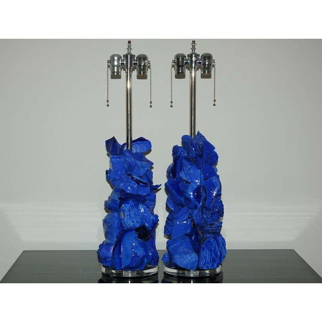 Rock Candy glass table lamps by Swank Lighting! Tumbled recycled glass in PERIWINKLE BLUE. These are Eco-friendly pieces...