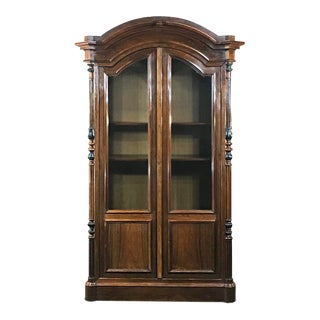 19th Century French Louis Philippe Rosewood Bookcase For Sale