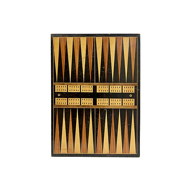 Cottage Antique Checker/Backgammon Board For Sale - Image 3 of 3
