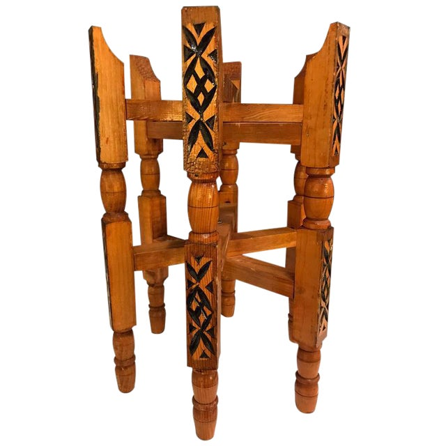 Hand-Carved Wood Tray Legs For Sale - Image 11 of 11