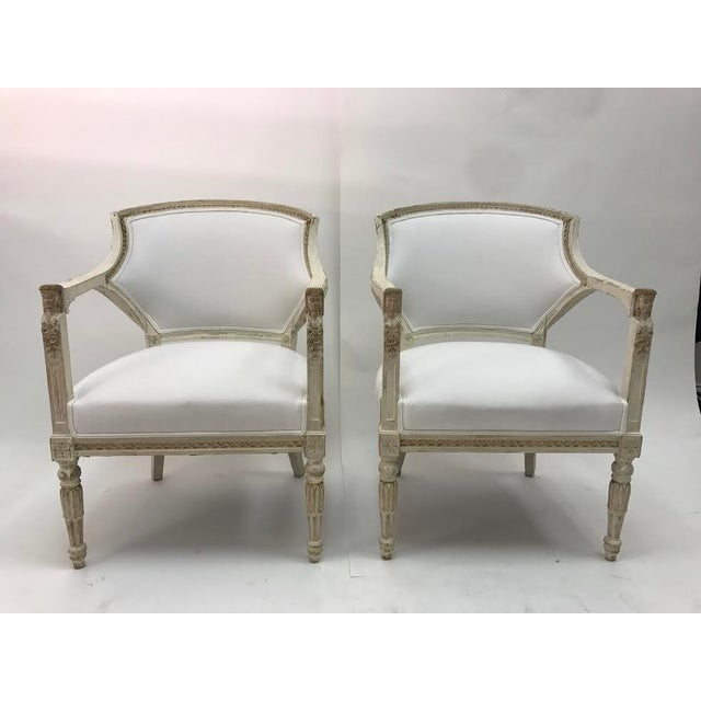 Gustavian Chairs With Pharaoh Heads - A Pair For Sale - Image 4 of 9