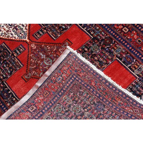 Semi Antique Persian Senneh Runner - 4′10″ × 10′5″ For Sale In Washington DC - Image 6 of 7