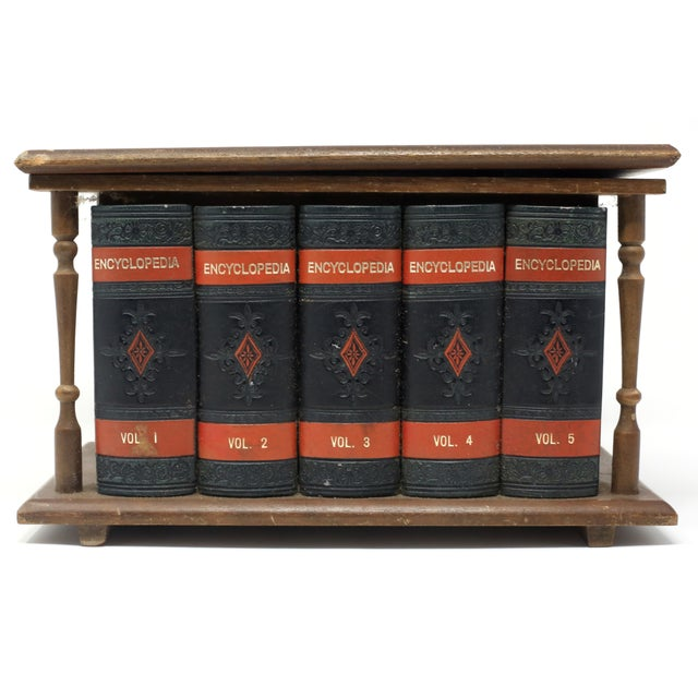 Black Vintage Japanese Wood and Leather Library Liquor Box With Original Glassware For Sale - Image 8 of 12