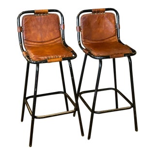 Midcentury Barstools in the Manner of Charlotte Perriand For Sale