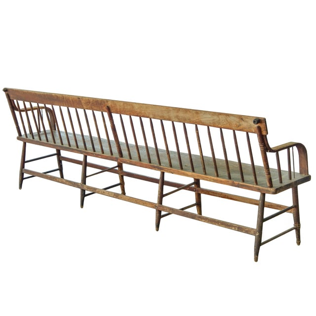 1910s Deacons Bench For Sale - Image 5 of 11
