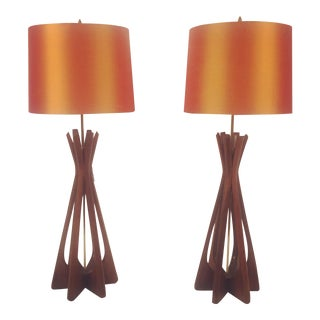 Mid-Century Adrian Pearsall Lamps - A Pair