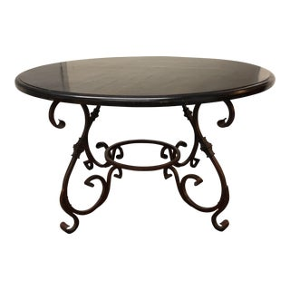 Artistica Home Wood & Iron Dining Table