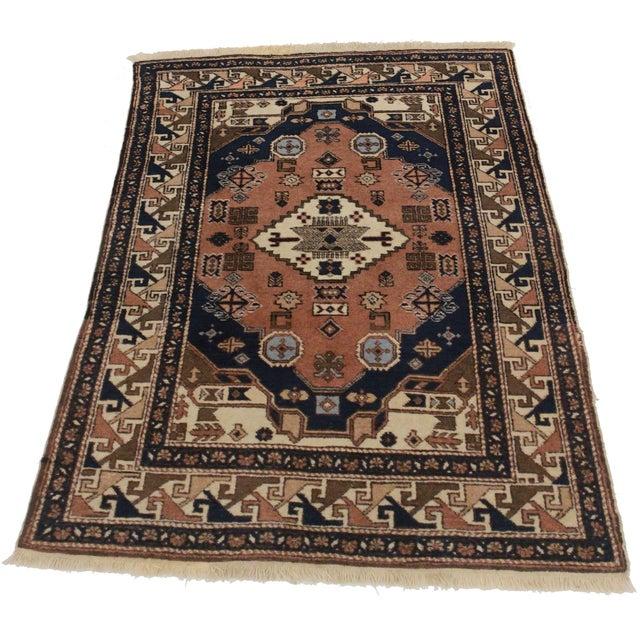 Vintage Persian Ardebil Wool Rug - 3′8″ × 5′2″ - Image 3 of 3