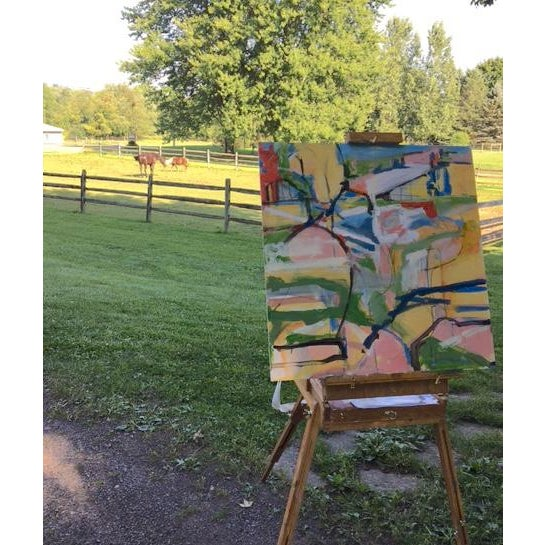 Abstract Horse Field - Sketch #1 Abstract Painting For Sale - Image 3 of 3