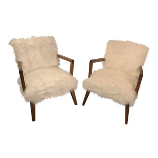 Vintage Mid-Century Danish Restored Lounge Chairs- a Pair For Sale