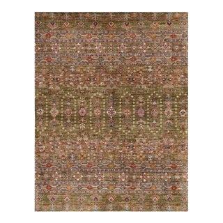 Arcadia Olive Afghan Rug-6′ × 9′ For Sale