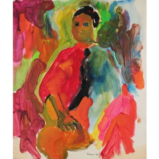Alysanne McGaffey Bay Area Figurative Portrait Painting, Circa 1960s For Sale