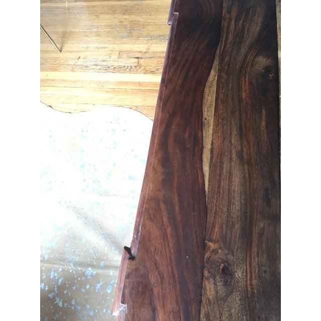 Antique Oak Hall Desk - Image 7 of 7