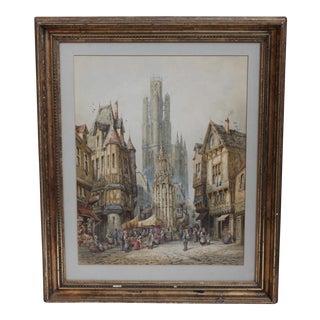 Original Watercolor by Henri Schafer