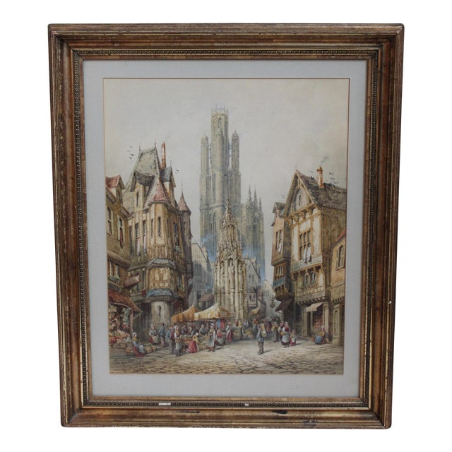 Original Watercolor by Henri Schafer For Sale