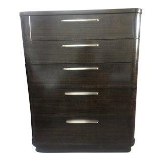 Modern Streamline 5 Drawer Chest For Sale
