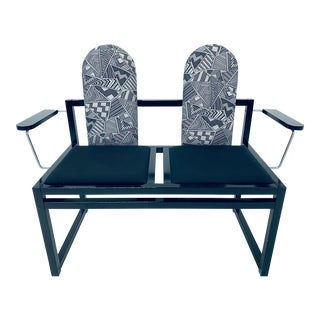 Gebrüder Thonet Vienna Design Post Modern Memphis Two Seat Bench For Sale
