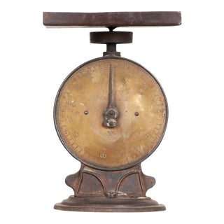 English 19th Century Iron and Brass Culinary Scale For Sale