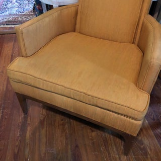 Orange Mid-Century Upholstered Chair Preview
