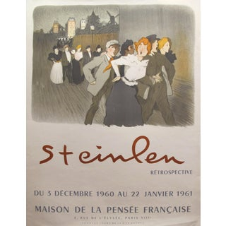 1961 French Exhibition Poster - Steinlen Retrospective - Maison De La Pensée Francaise For Sale
