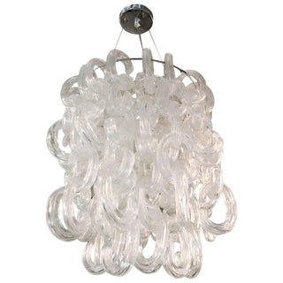 1960s Vintage Vistosi Links Chandelier For Sale