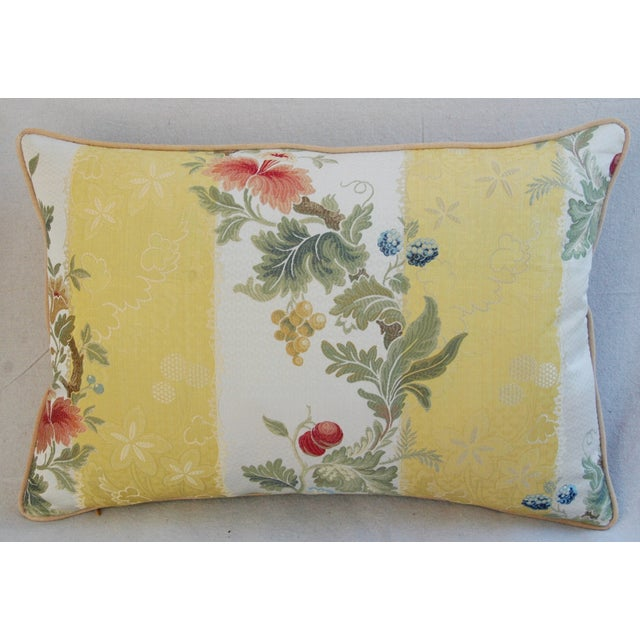 Designer Scalamandre Silk Lampas Pillows - Pair - Image 4 of 10
