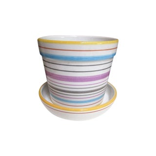 Tiffany & Co Planter Pot and Saucer For Sale