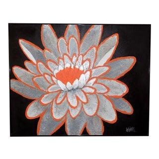 1970s Vintage Lee Reynolds Orange Flower Painting For Sale