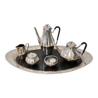 Reed & Barton, Denmark - Danish Modern Silver Plate Tea & Coffee Service c.1960 For Sale