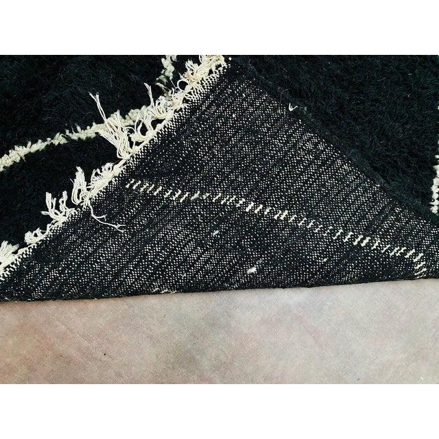 Vintage Black Beniourain Rug For Sale - Image 6 of 10
