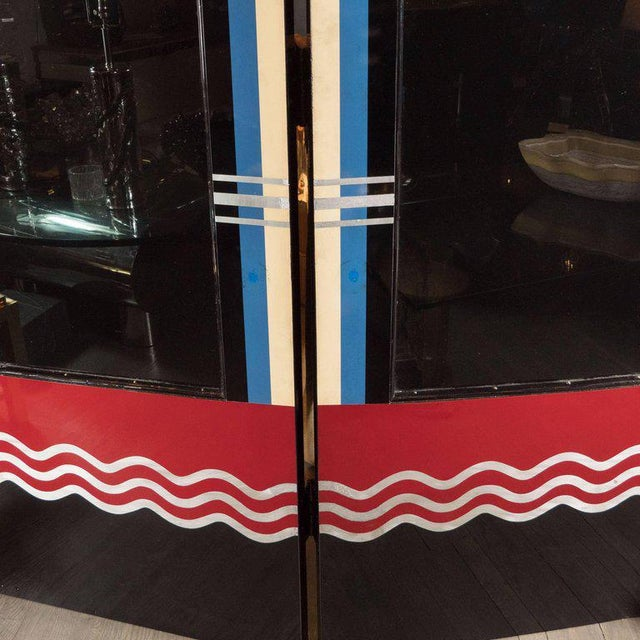 Black Art Deco Bakelite and Black Lacquer Doors or Theatre Screens by Robert Eberson For Sale - Image 8 of 11