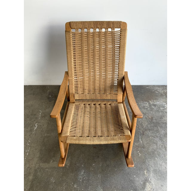 1970s Mid Century Rope Rocking Chair For Sale - Image 5 of 13